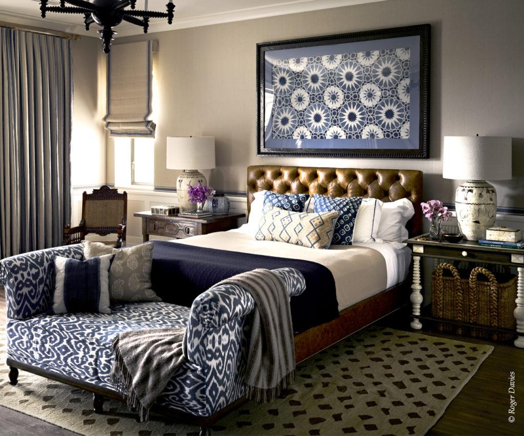 Une des chambres à coucher de la résidence Sperber à Point Dume Malibu