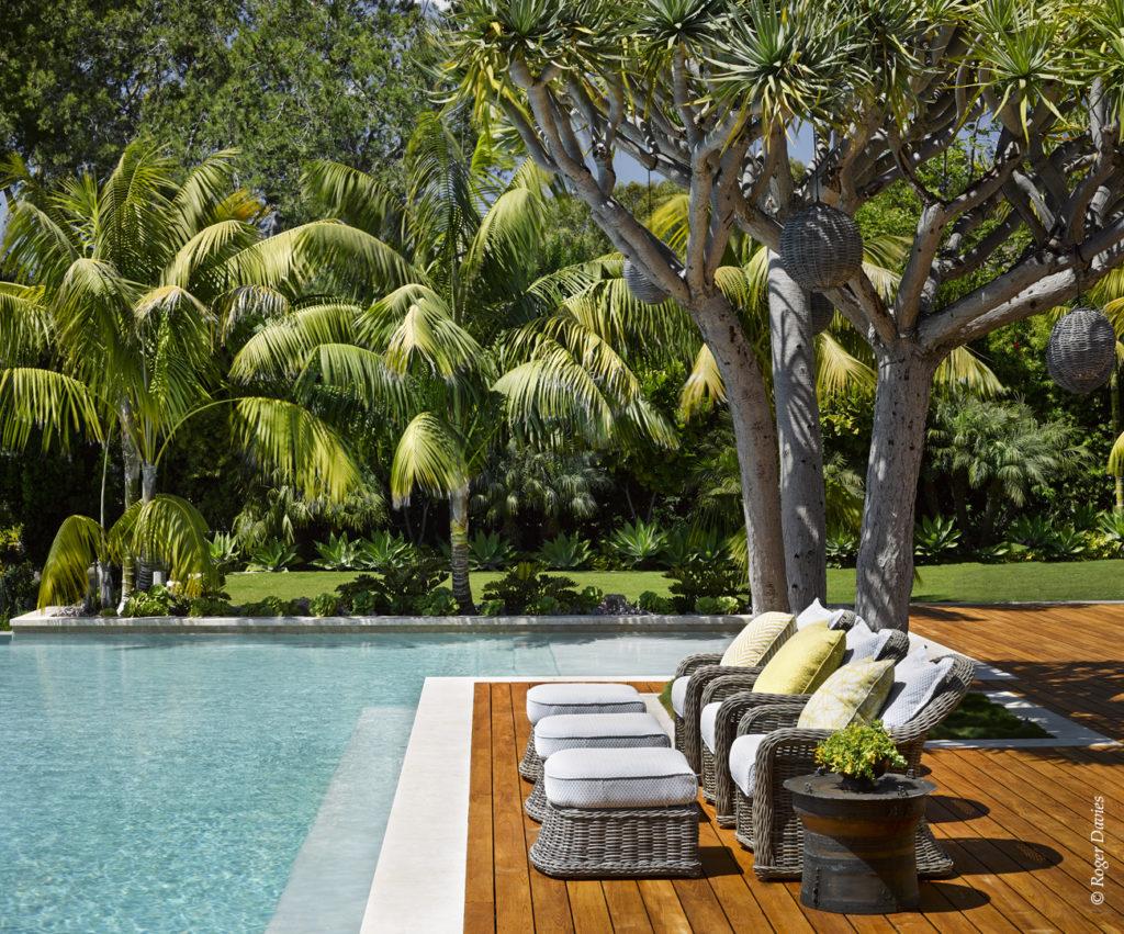 La piscine de la résidence Sperber à Point Dume Malibu