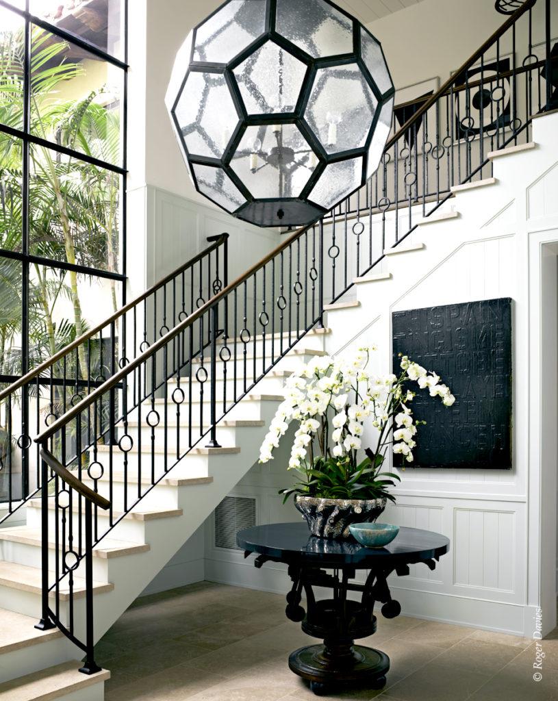 L'escalier de la résidence Sperber à Point Dume Malibu