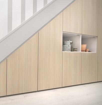 Maison & Jardin magazine meubles sous escaliers rangement sous combles