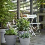 Maison & Jardin magazine pots de fleurs vibia campana gris round