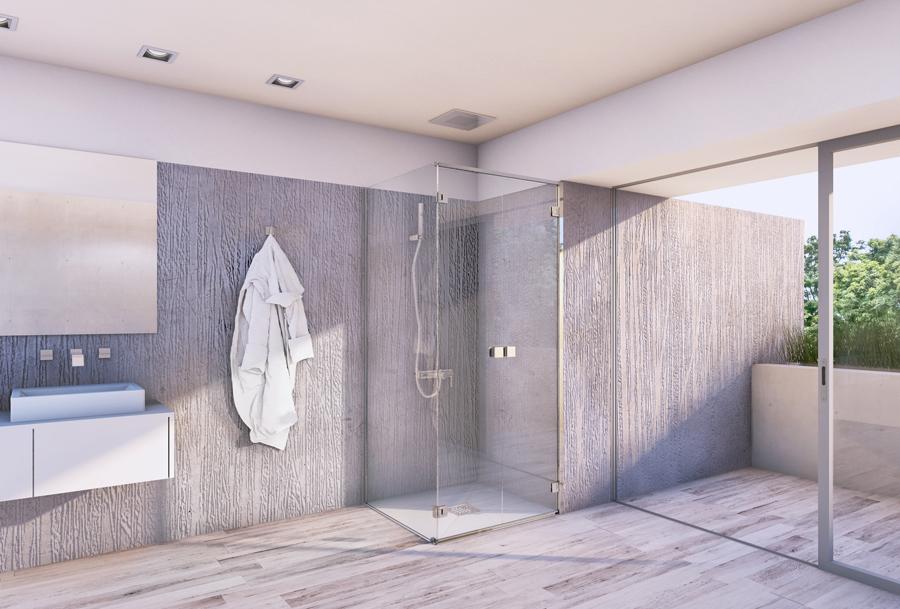 salle de bain avec douche design