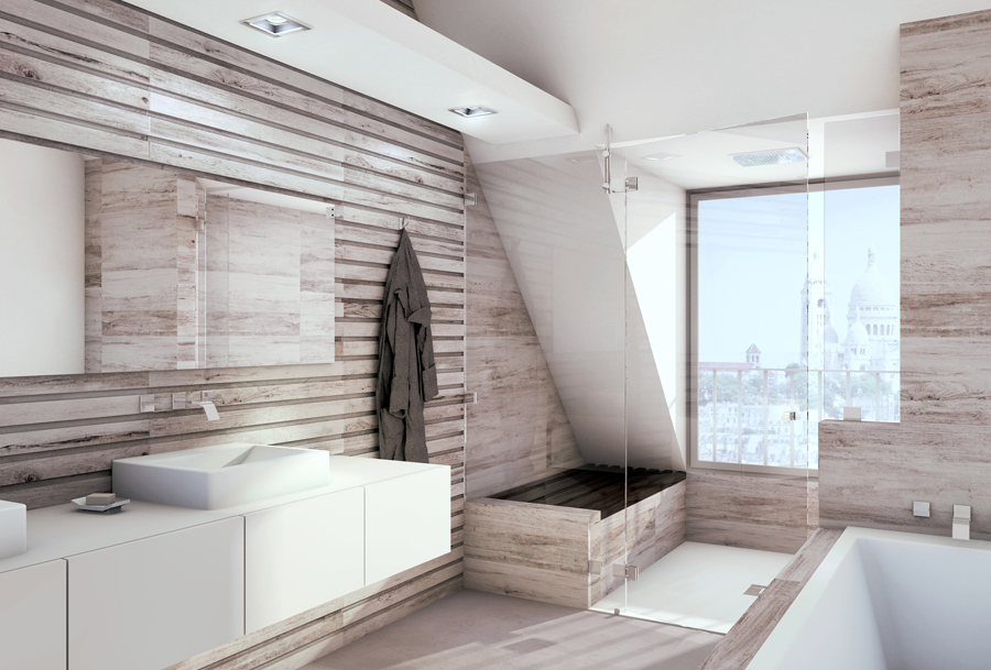 une salle d'eau au design élégant et à la propreté impeccable.