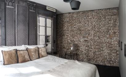 Maison & Jardin Magazine chambre avec deco style industriel