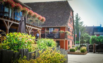 vue de l'hôtel les granges de l'Alsace typique de l'architecture de l'Alsace