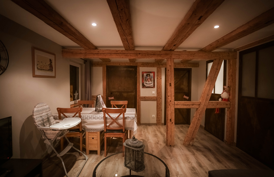 intérieur de l'appartement typique alsacien