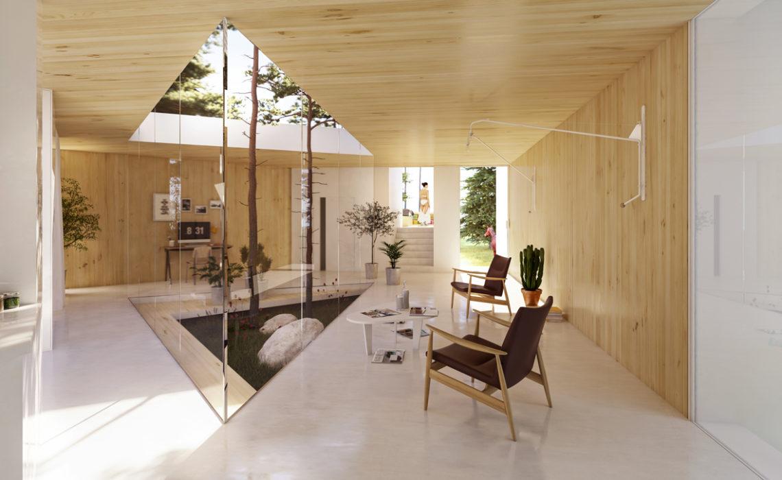 Maison & Jardin magazine aime les volumes de l'architecture de Ludovic Zacchi