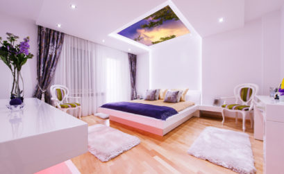 Maison & Jardin magazine aime les plafonds LED lumineux de Simar Design