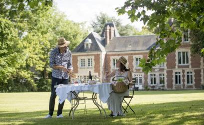Maison & Jardin magazine en week-end au Château Omiécourt