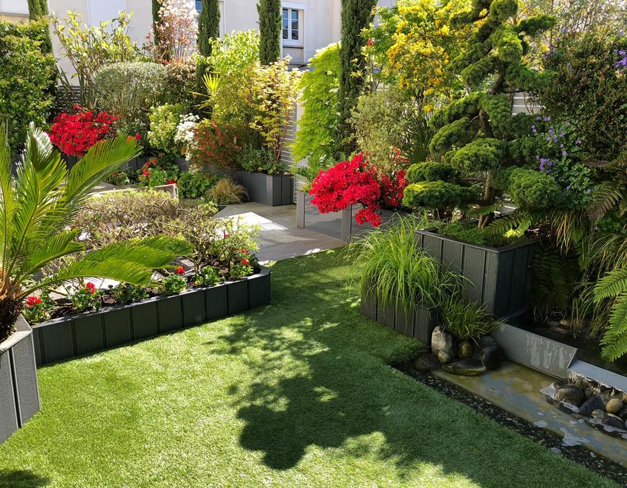 Maison & Jardin magazine aime les aménagements paysagers urbain de Déco Terrasse
