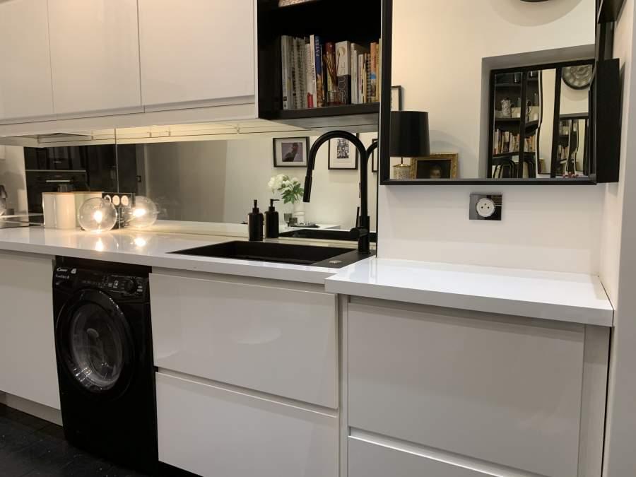La déco de la cuisine en noir et blanc