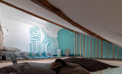 Une mezzanine repensée par Emmanuel Renaut décorateur d'intérieur