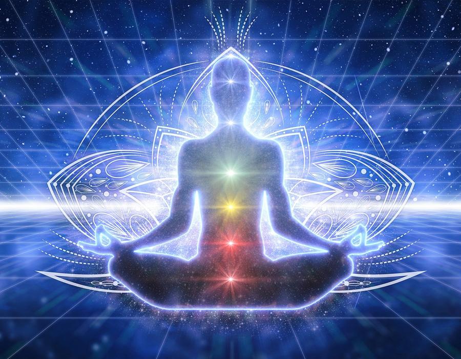 illustration la vie spirituelle et les chakras