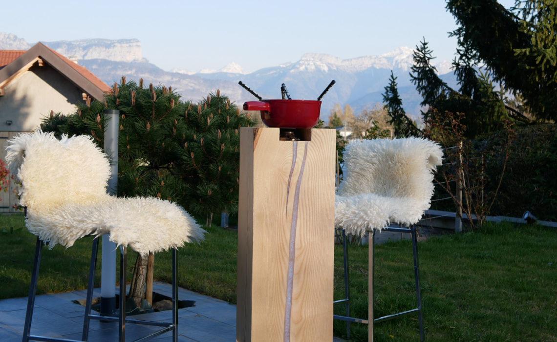 Brasero, de la collection de meubles sur mesure Bakoby