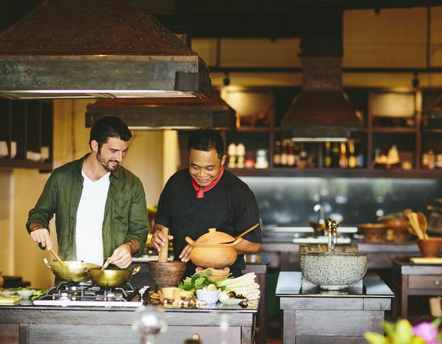 Cours de cuisine Thaï à l'hôtel Anantara Golden Triangle Elephant Camp & Resort