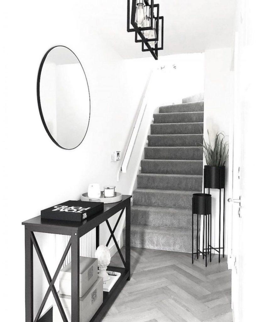 entrée black & white
