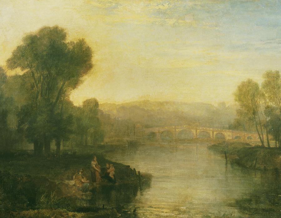 J. M. W. Turner (1775 – 1851), Vue de Richmond Hill et d'un pont, exposé en 1808, huile sur toile, 91,4 x 121,9 cm Tate, accepté par la nation dans le cadre du legs Turner 1856, Photo © Tate