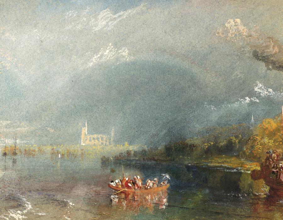 J. M. W. Turner (1775 – 1851), Jumièges, vers 1832, gouache et aquarelle sur papier, 13,9 x 19,1 cm, Tate, accepté par la nation dans le cadre du legs Turner 1856, Photo © Tate