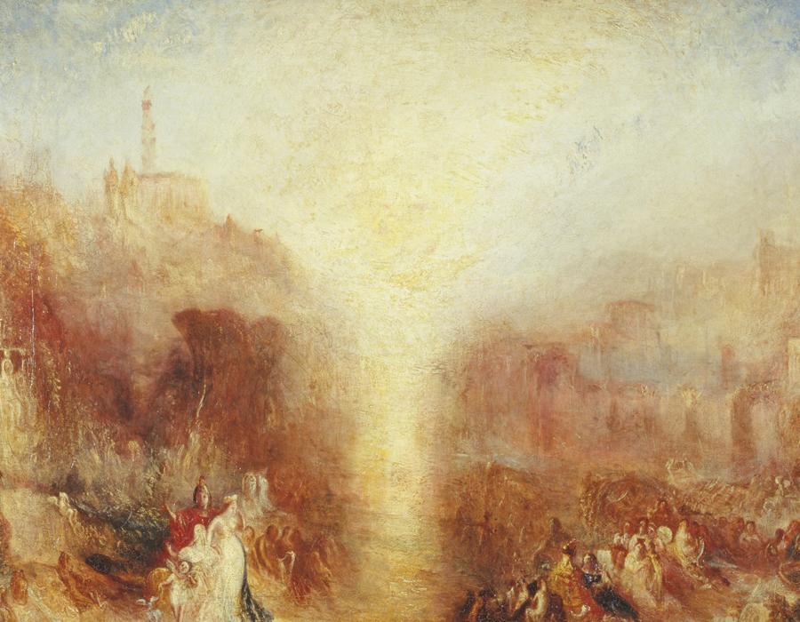 J. M. W. Turner (1775 – 1851), La Visite de la Tombe, exposé en 1850, huile sur toile, 91,4 x 121,9 cm, Tate, accepté par la nation dans le cadre du legs Turner 1856, Photo © Tate