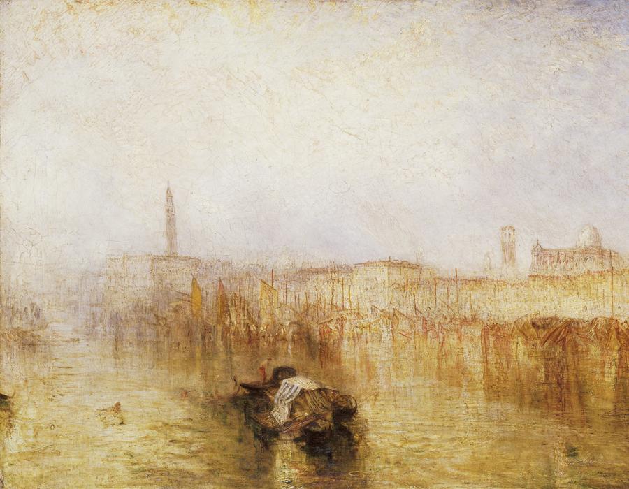 J. M. W. Turner (1775 – 1851), Quai de Venise, palais des Doges, exposé en 1844, huile sur toile, 62,2 x 92,7 cm Tate, accepté par la nation dans le cadre du legs Turner 1856, Photo © Tate