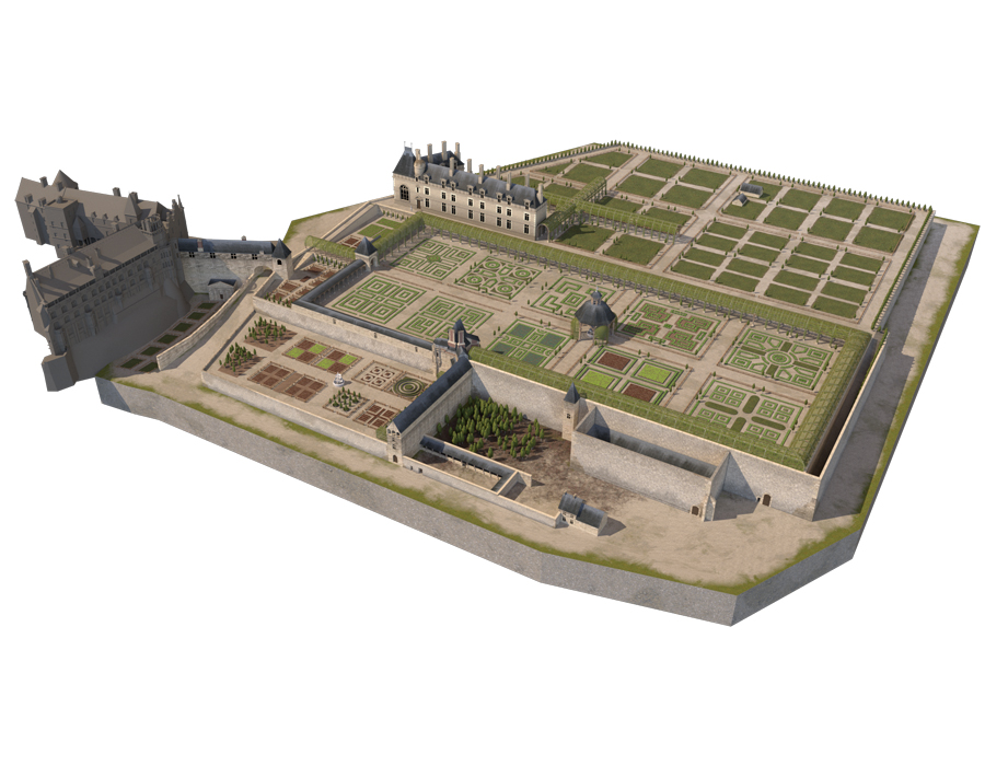 La reconstitution du jardin de Blois