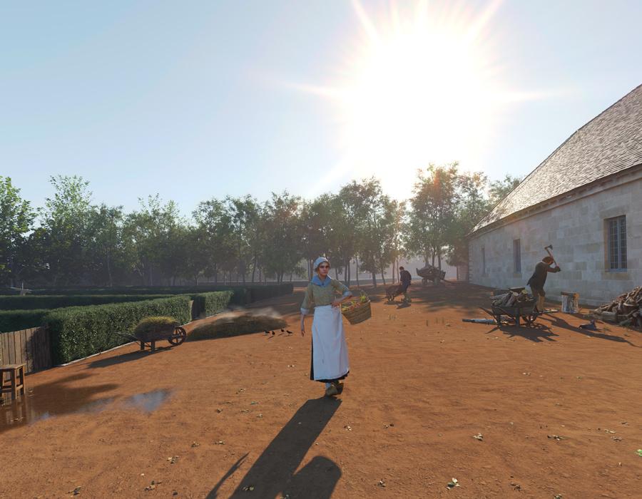 La reconstitution du jardin Des Salines