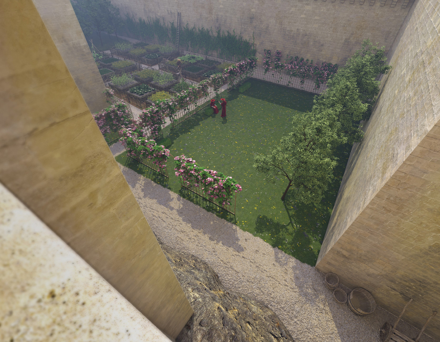 La reconstitution du jardin du Palais des Papes
