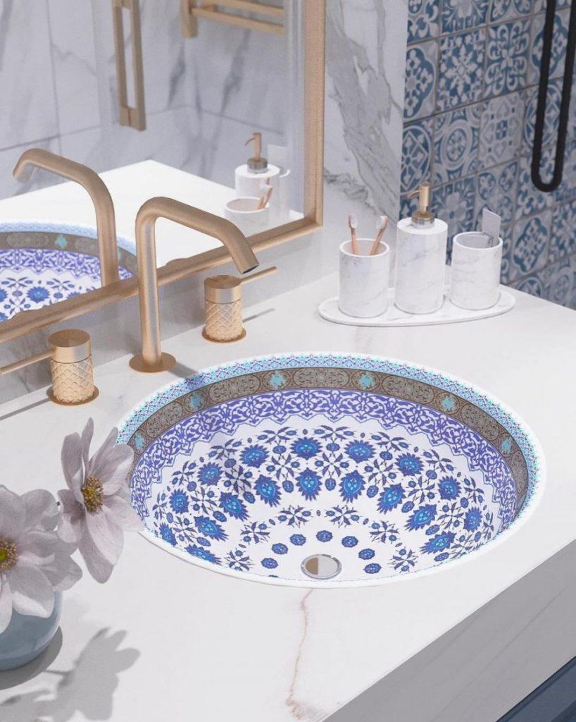 Lave-main au style bain turc