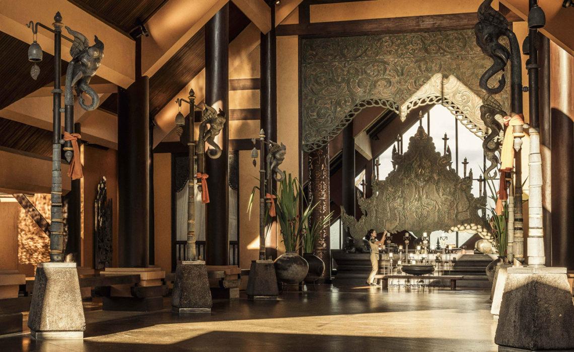 Le Lobby de l'Hôtel Anantara Golden Triangle Elephant Camp & Resort