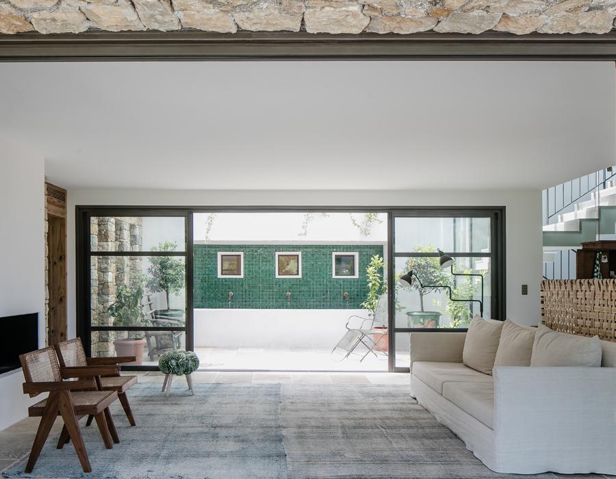 la pièce à vivre de la villa contemporaine Casa Vara