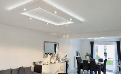 Plafonnier LED Luminnove en blanc