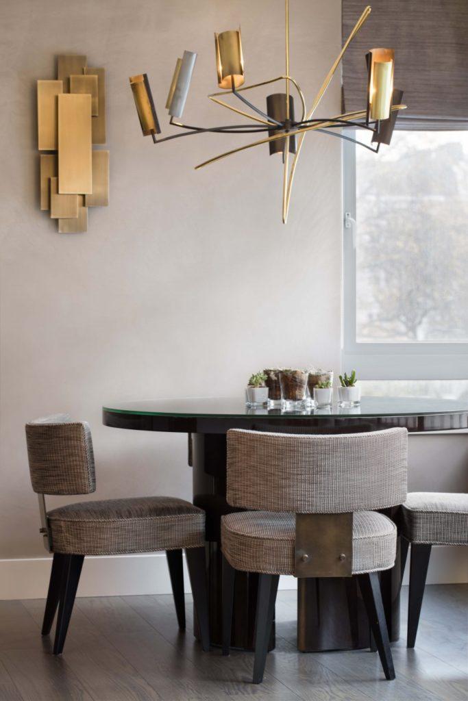 salle à manger du pied-à-terre londonien rénové par Light On White