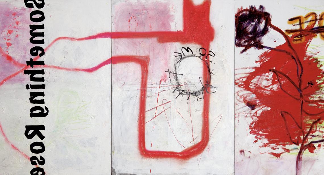 Entre peinture et écriture Something Rose par Nataly Goubet