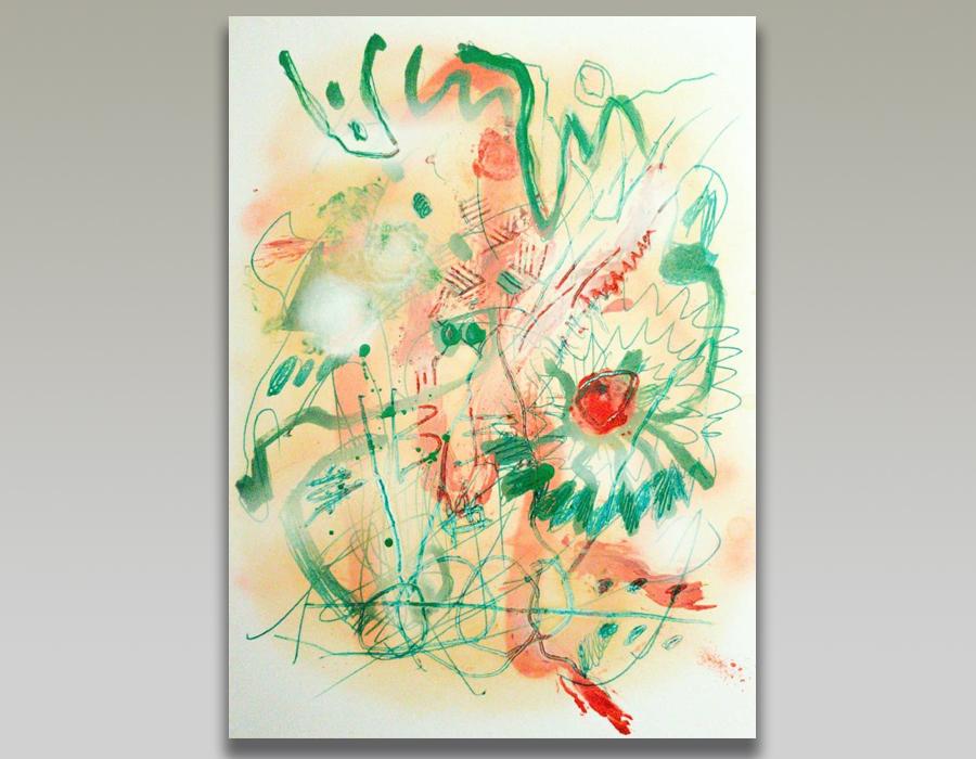 Entre peinture et écriture Composition par Nataly Goubet