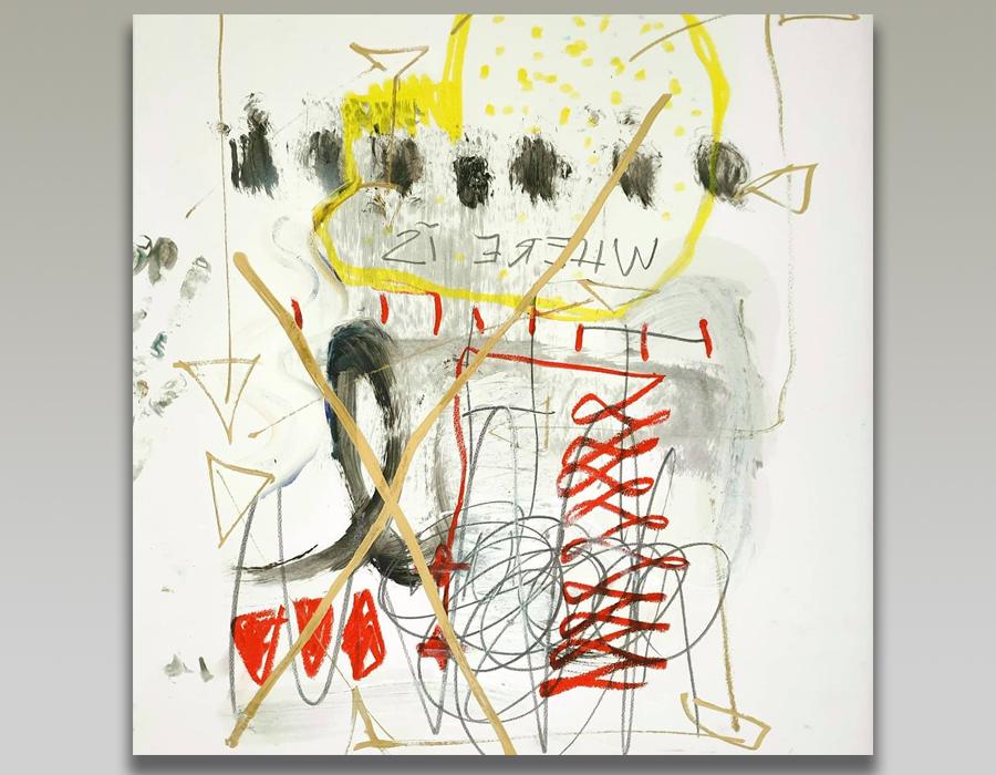 Entre peinture et écriture Where is the sun par Nataly Goubet