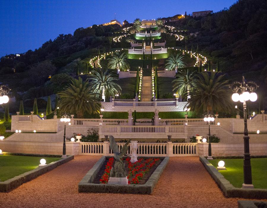 Les jardins de Bahá'i à Haïfa