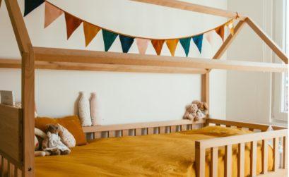 LITS CABANE POUR ENFANTS EN HÊTRE MASSIF