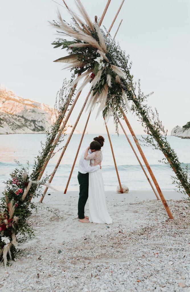 arche decoration ceremonie de mariage