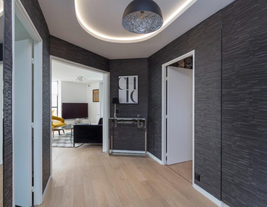 decoration couloir gris
