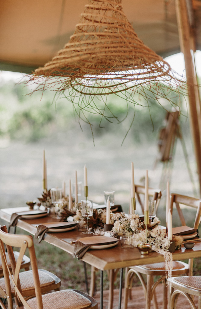 dinner sous tipi mariage