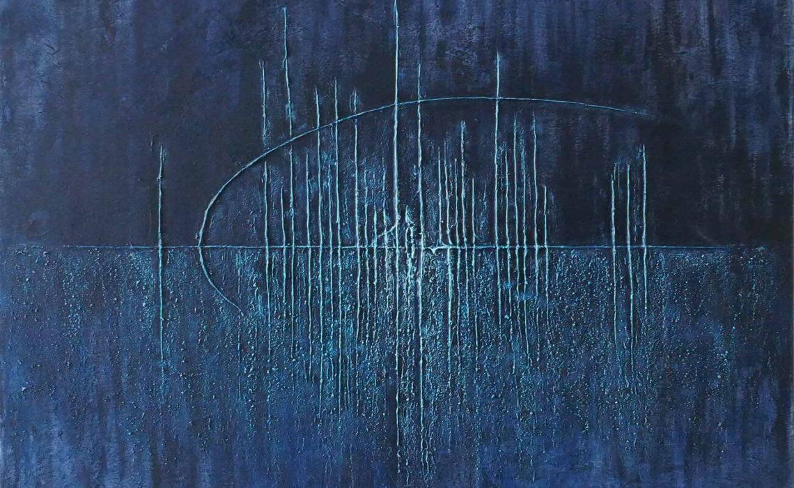 art en ligne tableau bleu