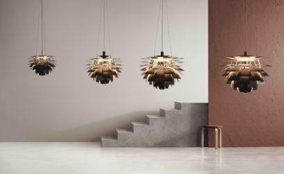 quatre lampes design suspendus