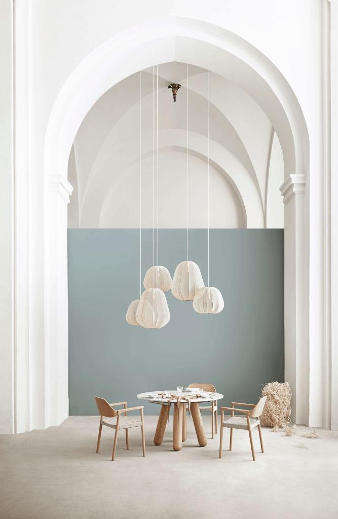luminaires blanc crée par la designer
