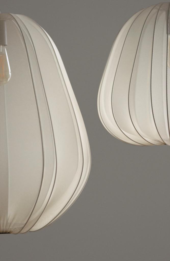 vue gros plan sur lampadaires blanc