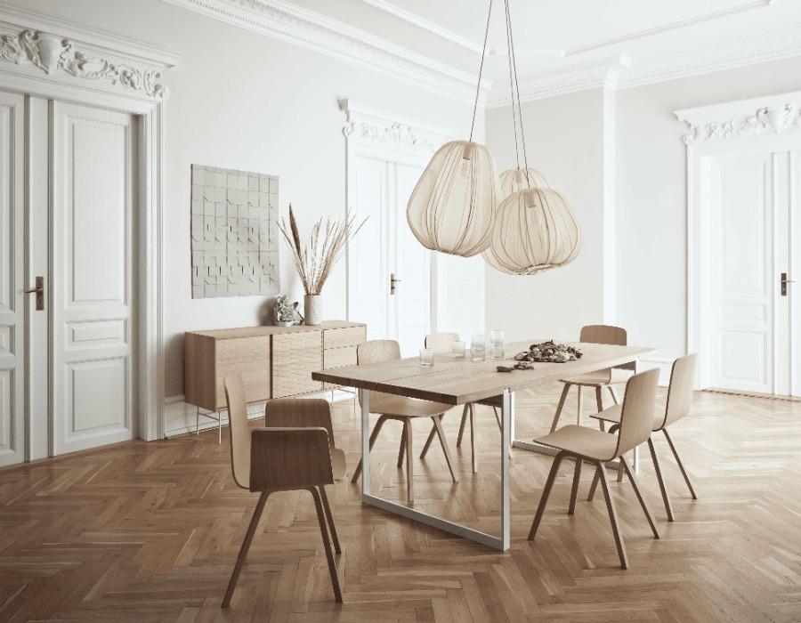 design salle à manger lampes suspendues