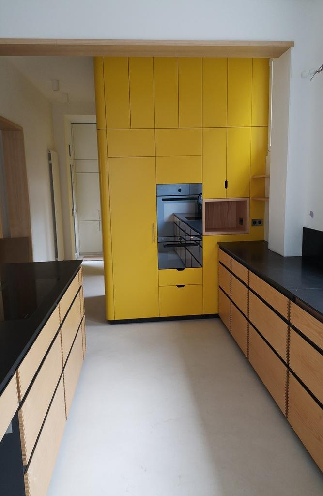meuble cuisine jaune ébéniste