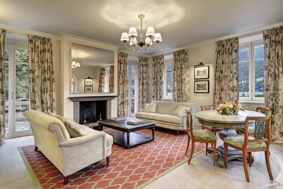 suite, salon mosaic de l'Hotel du Lac de Come, Villa d'Este